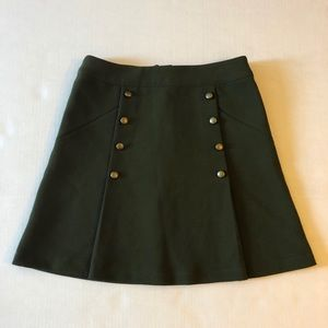 Divided Army Green Military Brass Button Skirt 4